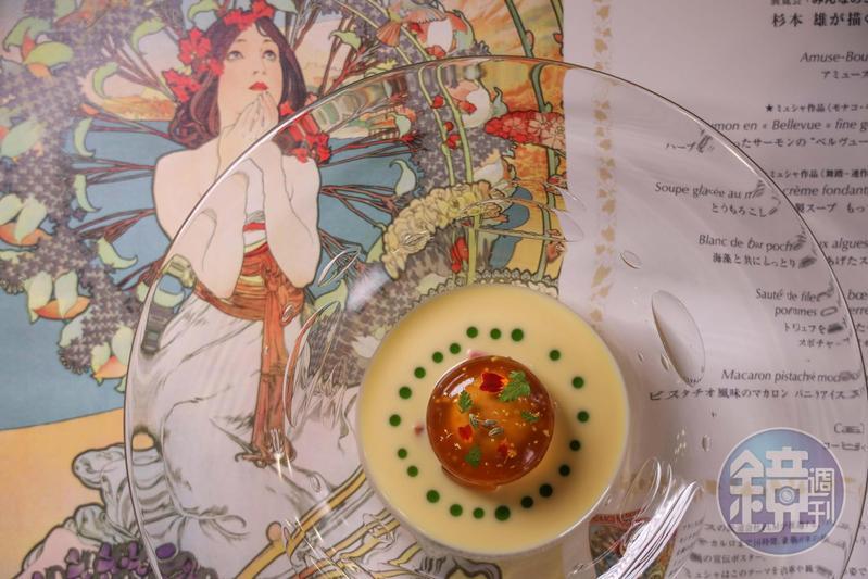東京帝國飯店是日本西式婚宴及西式自助餐起源地,現在飯店裡擁有多家備受好評的餐廳,圖為法式料理餐廳「La Brasserie」精美菜色。