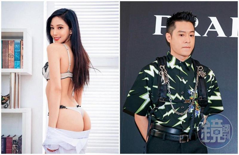 女模Jessie Tsai常在社交通訊軟體上傳性感照,也常分享自己的美臀。(左圖翻攝自Jessie Tsai IG)