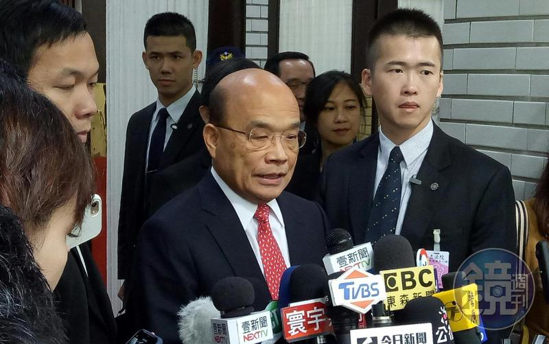行政院長蘇貞昌呼籲郭台銘加碼投資台灣。