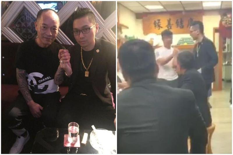 連千毅在臉書PO出與一名高雄角頭大哥的合照,自稱事件圓滿。(翻攝自連千毅臉書)