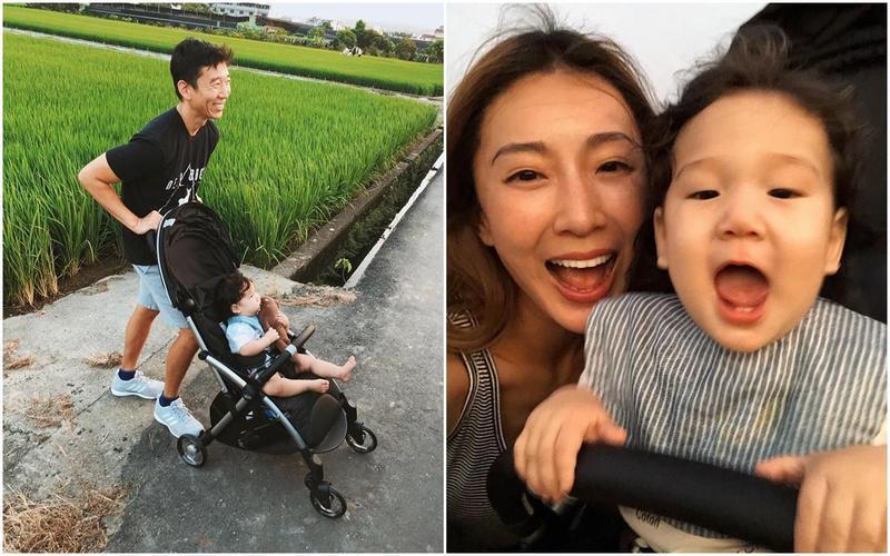 隋棠帶著老公與孩子們回到位在南投的老家,更於臉書po出一家人在田野間的天倫美照。(翻攝自隋棠臉書)