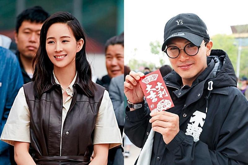 張鈞甯和邱澤2人首次合作電影《八歲的爸爸》,被傳從戲裡愛到戲外。(翻攝自《八歲的爸爸》微博)