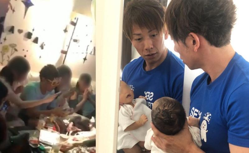日本AV男優清水健40歲終於作老爸,卻被日媒踢爆在老婆臨盆前深夜開趴。(右圖翻攝自伊藤春香IG)
