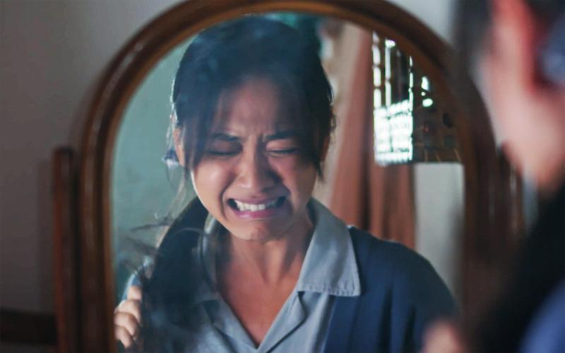 「阿嫂」林玟誼受盡委屈,負面情緒大爆發,自揭是最難演的一場戲。(公視提供)