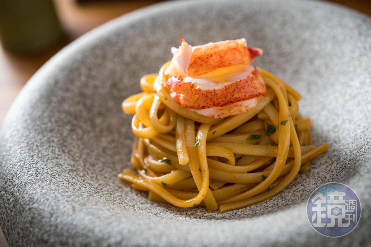 ANiMA套餐中一定會有一道義大利麵,龍蝦義大利麵醬汁鮮甜。(1,500元套餐菜色)