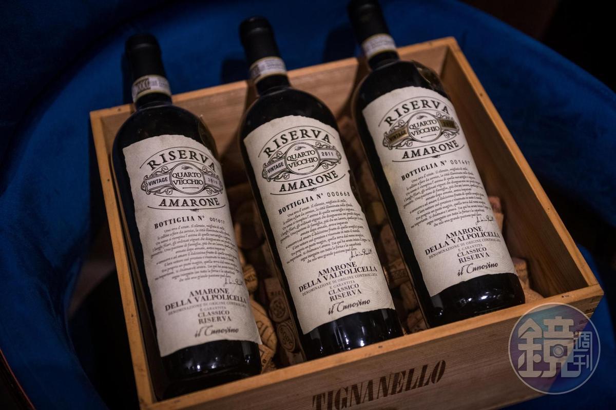 Andrea 也自己進口故鄉維洛納的Amarone葡萄酒。