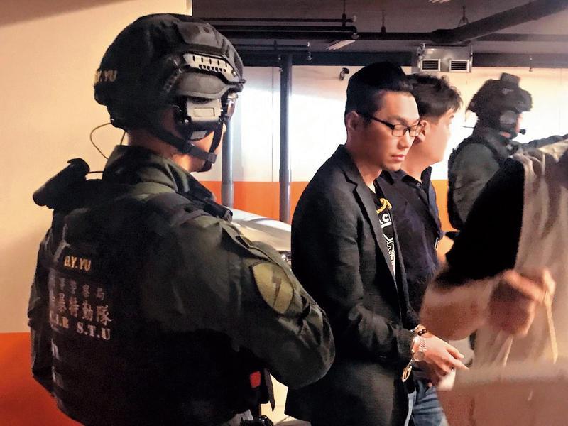 連千毅引發黑道大混戰,終於被警方以多項罪名抓去關。(翻攝畫面)