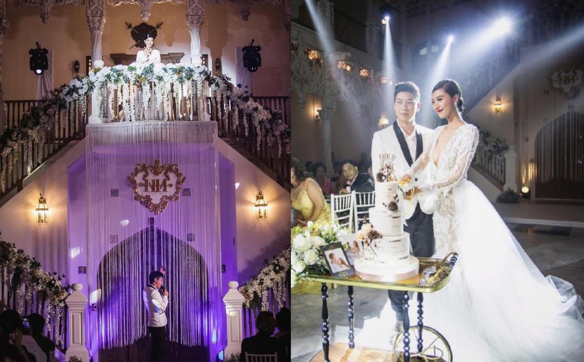 Namwan的老公為她準備浪漫婚禮,她以深V性感白紗成為最美麗的新娘。(網路圖片)