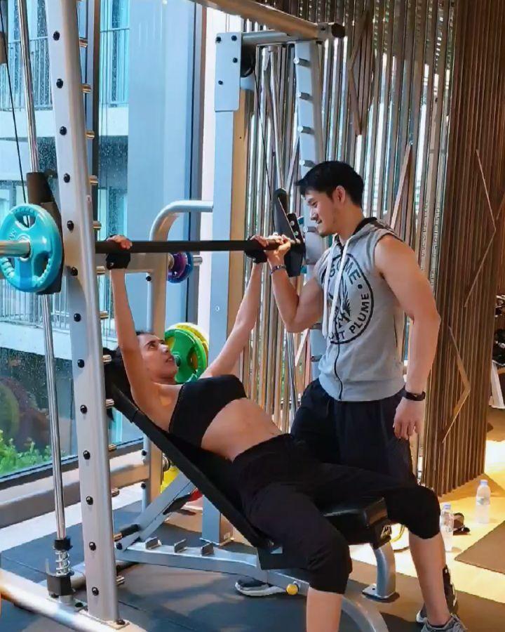Namwan不但臉蛋漂亮,平常持續運動保持完美身材。(翻攝自Namwan IG)