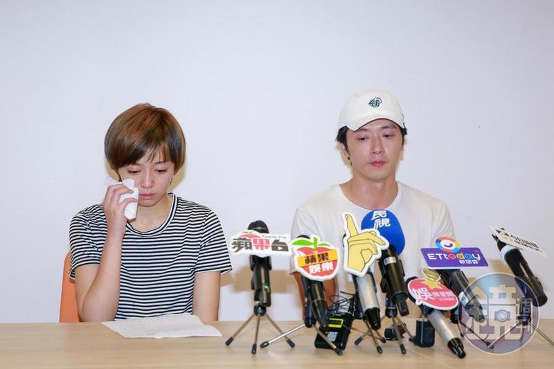 王瞳與馬俊麟的記者會,他們落淚,但網友看到他們落淚更火。(本刊資料照)