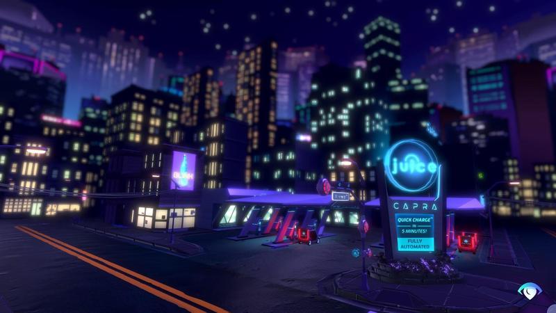 霓虹用色呈現未來科技感(圖片來源:遊戲實機畫面)