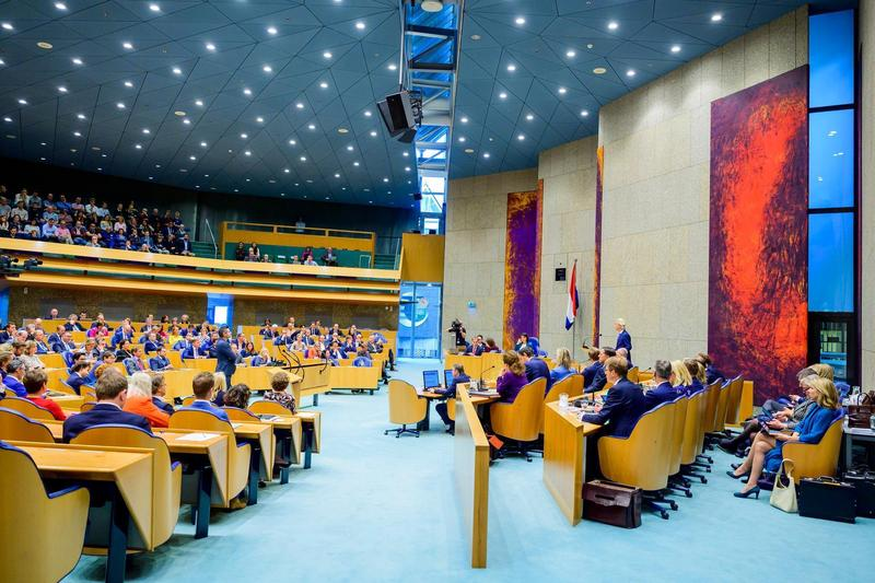 荷蘭眾議院壓倒性票數通過支持台灣參與國際組織法案。(翻攝自荷蘭眾議院粉絲專頁)
