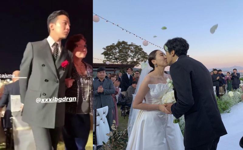 GD現身姊姊權達美婚禮,看起來狀態極佳。(翻攝自網路)