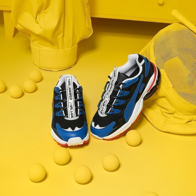 PUMA SELECT x KARL LAGERFELD聯名系列CELL ALIEN KARL鞋款,NT$5,080。(PUMA提供)