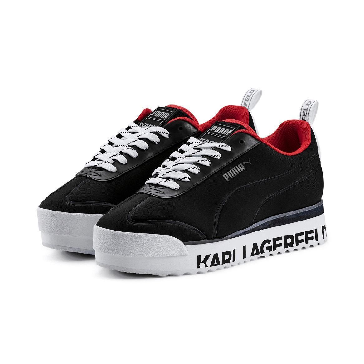 PUMA SELECT x KARL LAGERFELD聯名系列ROMA ARMOR KARL鞋款,NT$4,580。(PUMA提供)