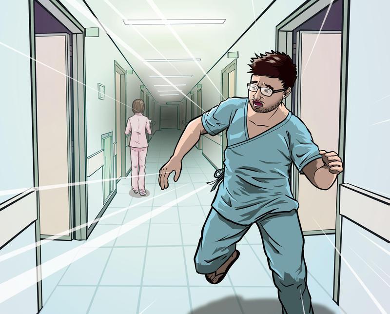 阿強(化名)住進精神病院近一個月,某天深夜從後門逃出,重獲自由。