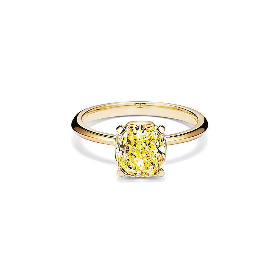 微風信義 Tiffany True 18K金黃鑽訂婚戒指1.53克拉 推薦價 1,000,000元