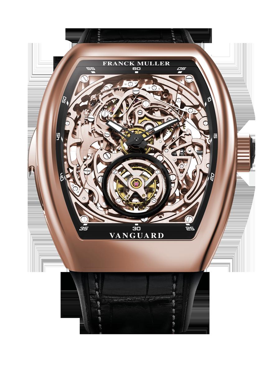 微風南山Vanguard 三問陀飛輪玫瑰金腕錶 售價約 12,000,000元。
