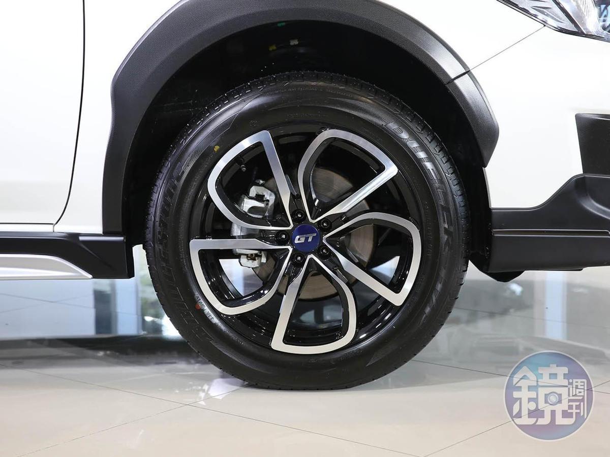 XV GT Edition換上專屬的18吋鋁圈。