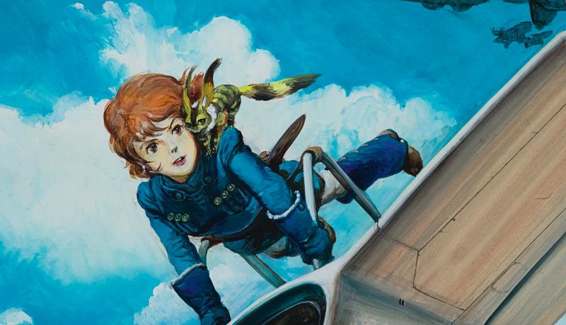 多部日本動漫收藏在蘇富比香港秋拍賣出高價,圖為《風之谷》手繪稿,以超過400萬台幣的價格售出。(翻攝自sothebys.com)