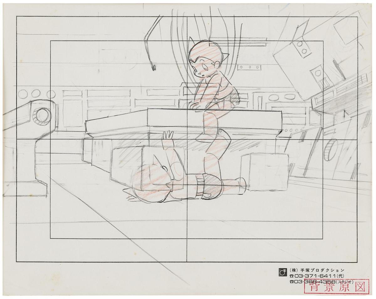 一批《原子小金剛》的原稿、手稿、草圖及玩具,以超過百萬台幣的價格成交。(翻攝自sothebys.com)