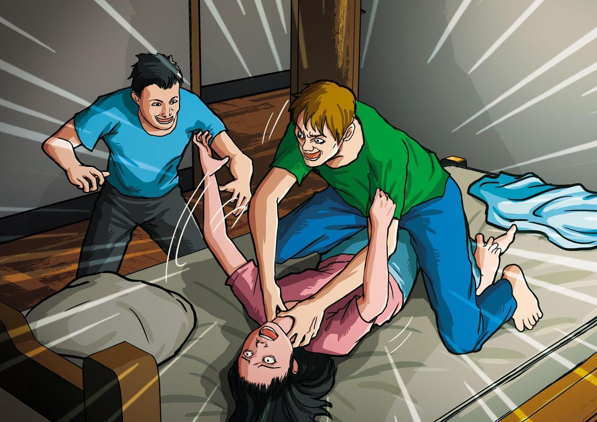 惡狼徐志皓性侵方姓少女後,還將她掐死並割喉棄屍。(圖為示意畫面)