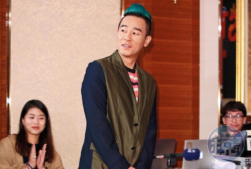 陳小春9月來台參加巡迴演唱會台北站啟動記者會,這次也是他首度來台舉辦演唱會。