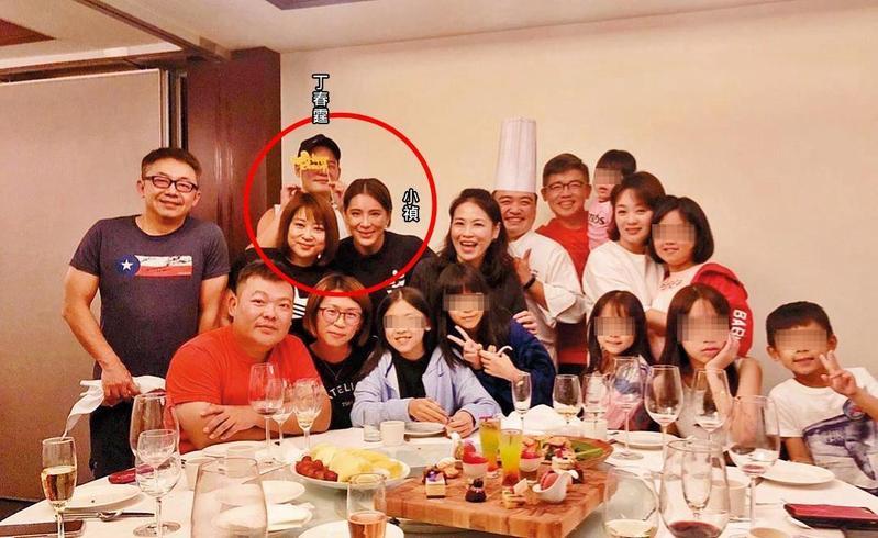 不同人貼照,卻出現同一盤菜,證實小禎後排和丁春霆同時出現在太魯閣晶英無誤。