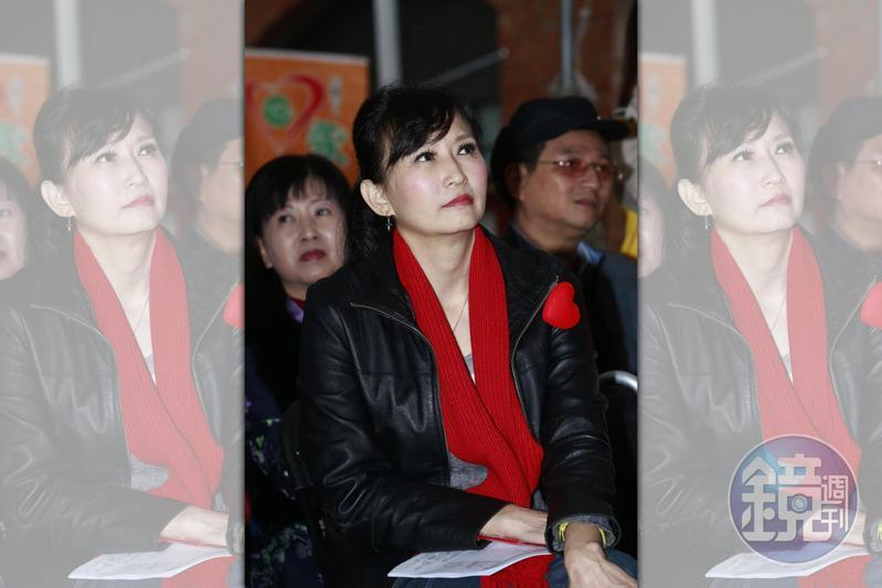 前立委周守訓是郭辦重要政治幕僚,妻子汪用和(圖)8月被鴻海董事長劉揚偉邀請加入鴻海,打算讓汪擔任發言人一職。