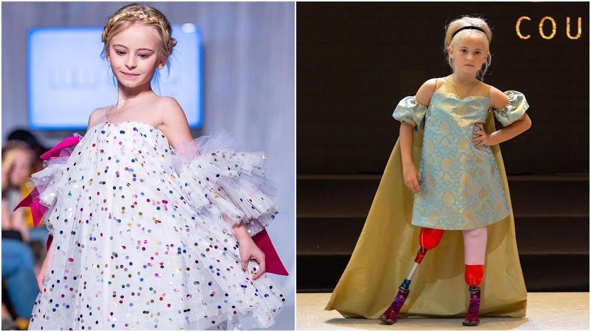 創時裝週先例 9歲女童雙腳截肢走上伸展台圓夢