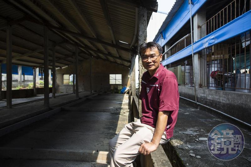 陳吉仲老家的豬舍,因口蹄疫爆發負債,荒廢至今。
