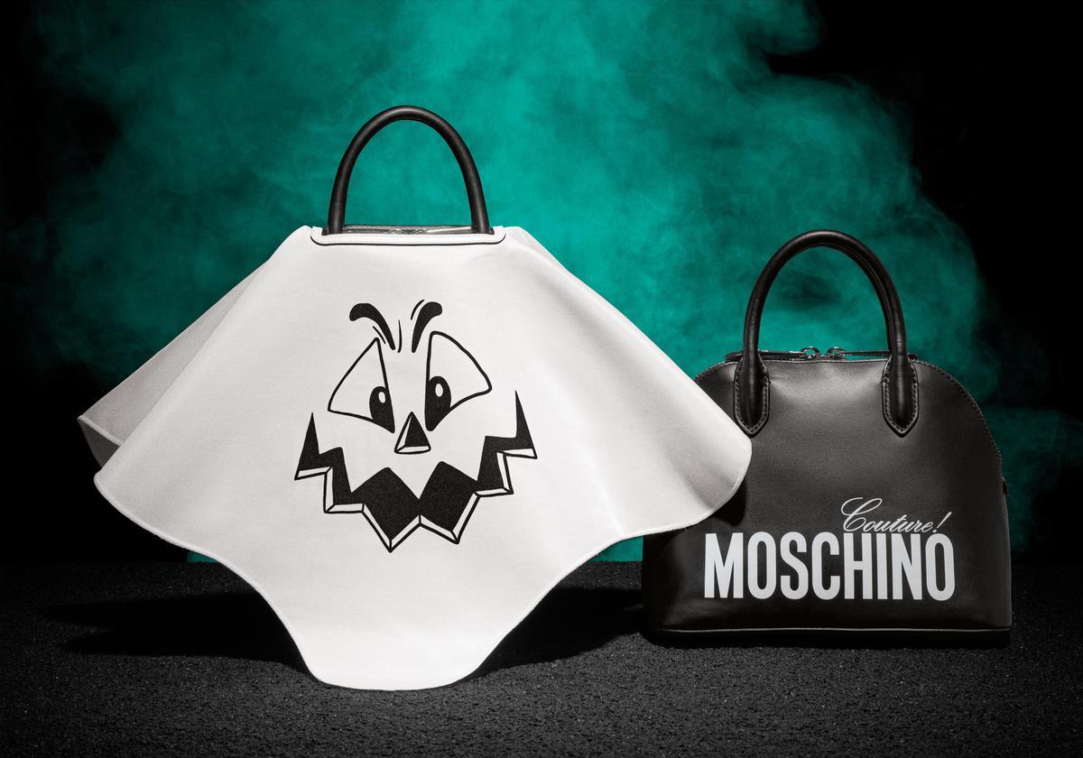 Moschino 南瓜臉手提可拆式二用包外蓋 $44,500(MOSCHINO提供)