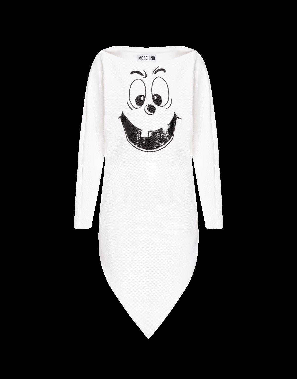 Moschino 南瓜笑臉長版造型洋裝 $35,300(MOSCHINO提供)