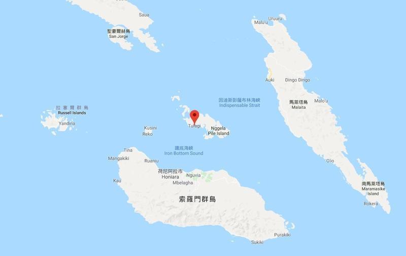 圖拉吉是天然的深水港,與索羅門群島目前首都所在的瓜達爾卡納爾島向來都是兵家必爭之地。(翻攝自Google map)