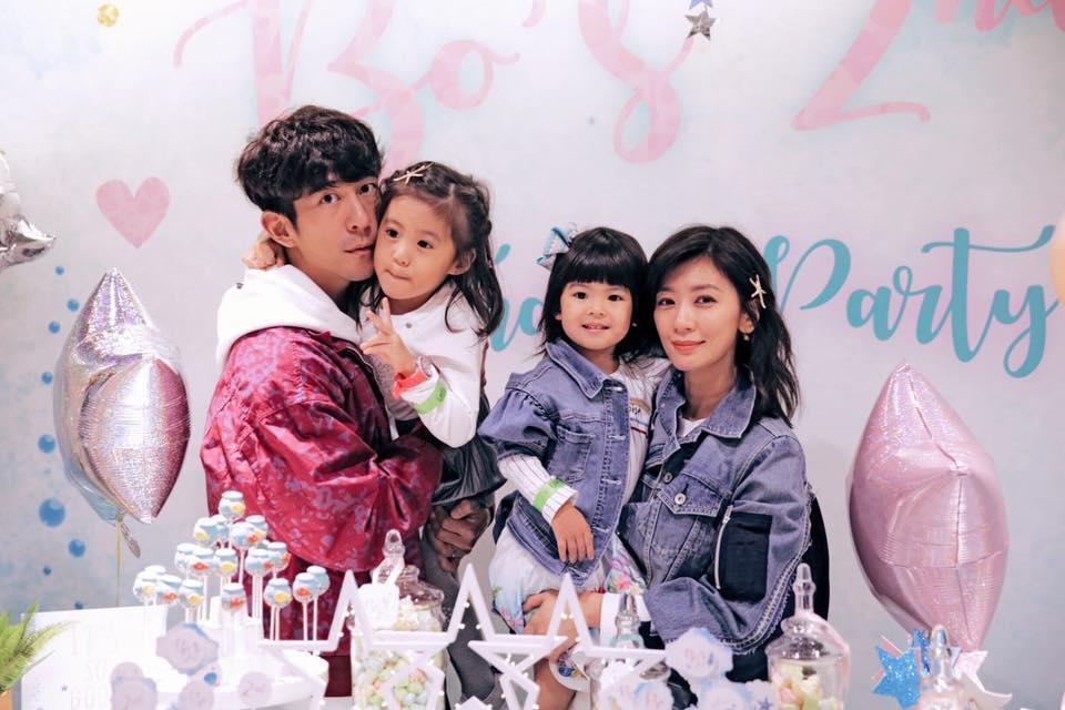 賈靜雯年過40又替修杰楷生下一對女兒咘咘與Bo妞。(翻攝自賈靜雯臉書)