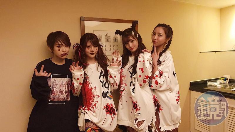 日本AV女優椎名空、相澤南、高橋聖子與前AV女優夏木安梨第一次參加台灣同志大遊行。