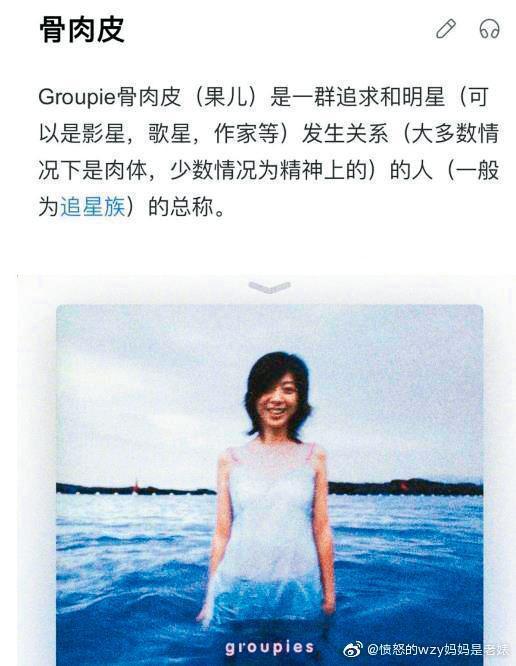 欧阳娜娜曾在微博po出陈绮贞《吉他手》专辑封面,疑似暗讽綦美合是为追星不惜献身的「骨肉皮」。(翻摄自欧阳娜娜微博)