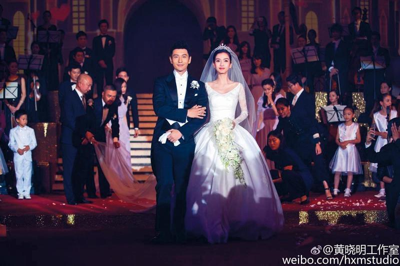 黃曉明與Angelababy結婚曾舉辦奢華婚禮。(翻攝黃曉明工作室微博)