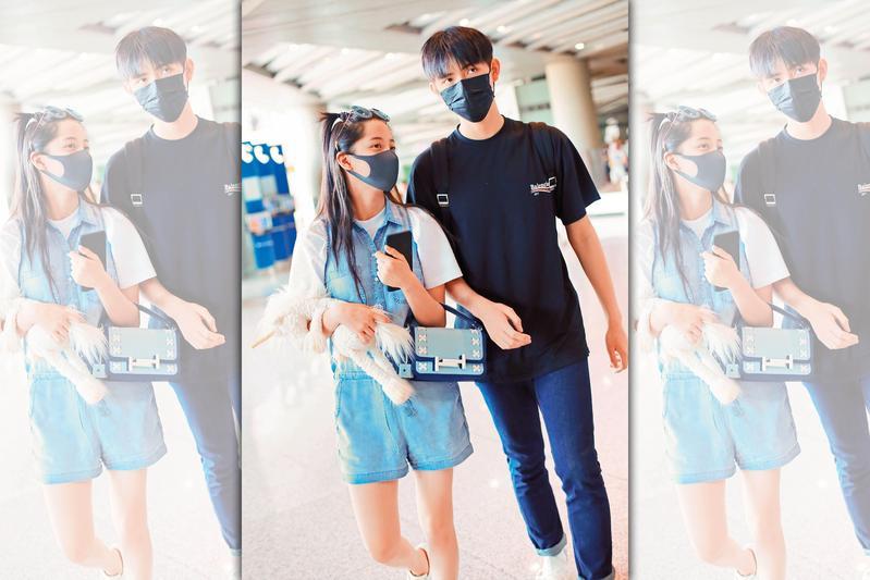 歐陽娜娜(左)與陳飛宇(右)戀情傳得如火如荼,據悉兩人確實戀愛ing,已經交往了近1年。(東方IC)