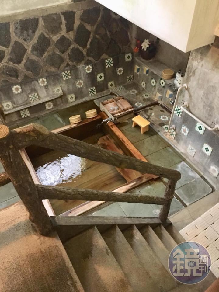 福田家的溫泉浴場,是用榧木(紅豆杉)打造。