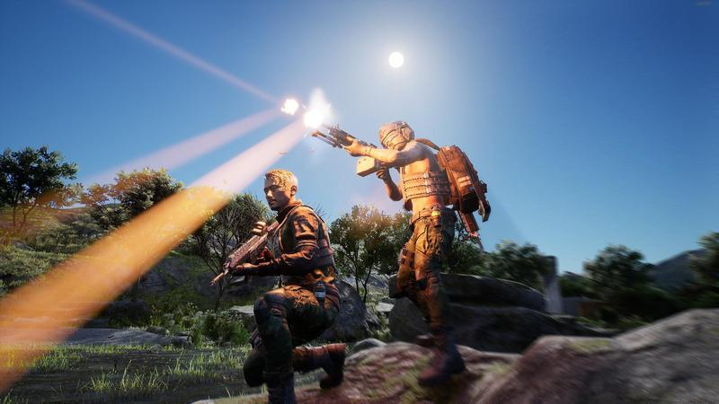《CODE2040》是台灣首款自製研發的大逃殺類型射擊遊戲。(翻攝自Steam)