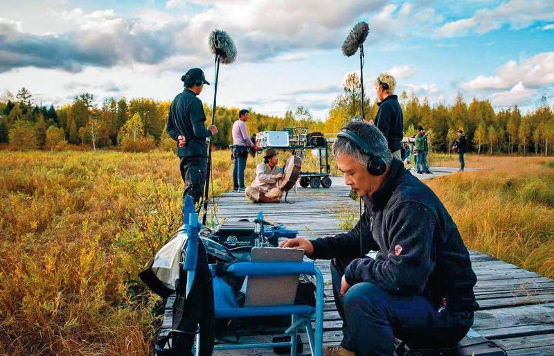 湯湘竹為了工作常去人跡罕至的地方,今年遠赴內蒙大興安嶺拍攝中國大陸電影《莫爾道嘎》。(湯湘竹提供)
