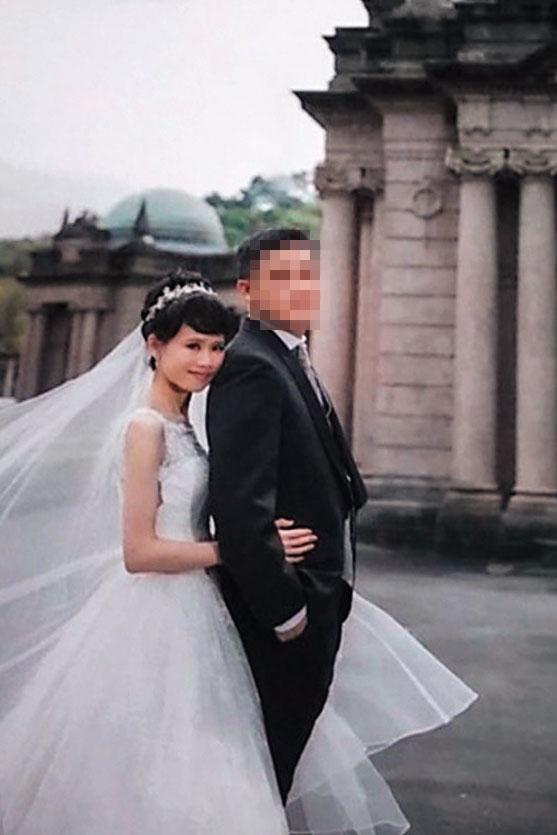通靈女檢林欣怡六月低調完婚,同事及長官都不知情,婚紗照可見她幸福出嫁模樣。(讀者提供)