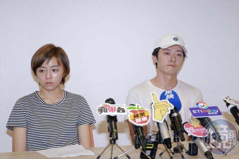 王瞳(左)遭馬俊麟(右)妻提告侵犯配偶權案今日開庭。