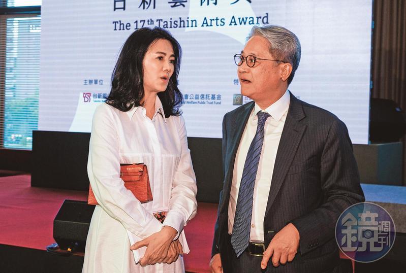 台新金董座吳東亮夫人彭雪芬(左),掌控吳家四大控股公司,擴張吳東亮(右)在家族的勢力。