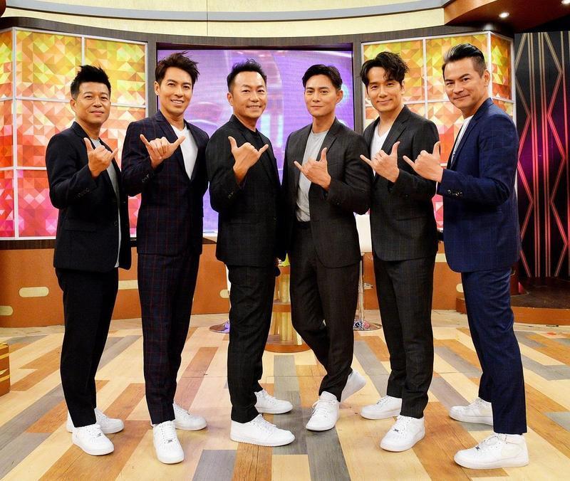 馬國賢、張克帆、張洛君、湯俊霈、王海倫及韓志杰為即將到來的成軍30週年音樂會上節目宣傳。(衛視提供)