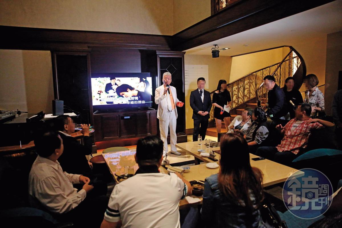 李光輝11月1日舉辦生日派對,原本要出席的翁子涵最後因病沒來。(讀者提供)