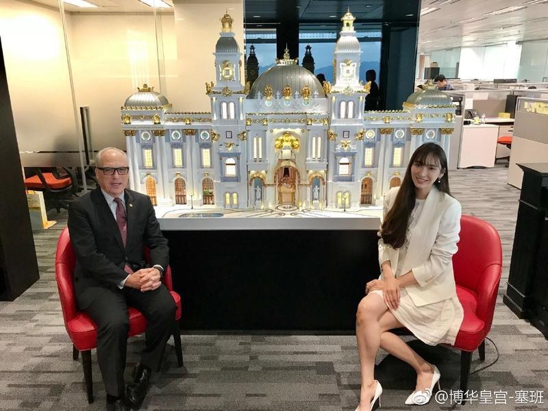 「博華皇宮」 據傳花費近千億台幣打造,吳佩慈不時在微博曬圖賣力宣傳。(翻攝自博華皇宮微博)