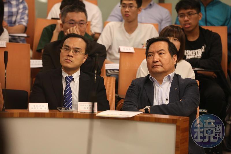 北檢檢察官林達(左)及行政院政務委員羅秉成(右),圖為資料照。