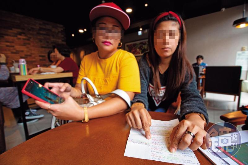 小潔(右)為同鄉作保被倒80萬元,想多賺點錢,才與黛比(左)合資投資,卻又受騙。